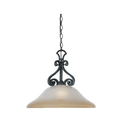 Designers Fountain Natural Iron Single Light Down Lighting Pendant from the Barcelona Collection