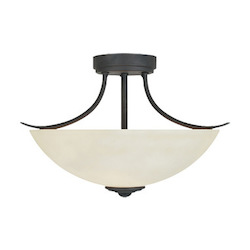 Designers Fountain Oil Rubbed Bronze Two Light Semi Flush Ceiling Fixture
