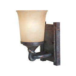 Designers Fountain Weathered Saddle Single Light Wall Sconce from the Austin Collection