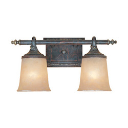 Designers Fountain Weathered Saddle Two Light Down Lighting 17.5