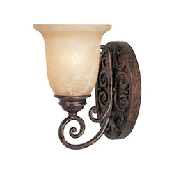 Designers Fountain Burnt Umber Single Light Up Lighting Wall Sconce from the Amherst Collection