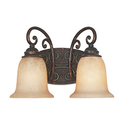 Designers Fountain Burnt Umber Two Light Down Lighting 14