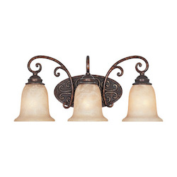 Designers Fountain Burnt Umber Three Light Down Lighting 22