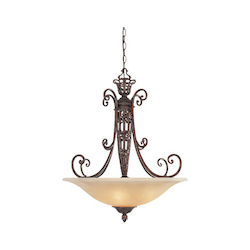 Designers Fountain Burnt Umber Three Light Down Lighting Bowl Pendant from the Amherst Collection