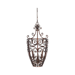 Designers Fountain Burnt Umber Three Light Up Lighting Foyer Pendant from the Amherst Collection