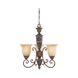 Designers Fountain Burnt Umber Three Light Up Lighting Mini Chandelier from the Amherst Collection