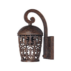 Designers Fountain Burnt Umber Single Light Down Lighting Outdoor Wall Lantern