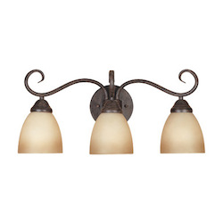 Designers Fountain Satin Platinum 3 Light Bathroom Fixture