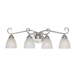 Designers Fountain Satin Platinum Four Light Down Lighting 29.75