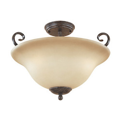Designers Fountain Satin Platinum Three Light Semi Flush Ceiling Fixture