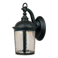 Designers Fountain Aged Bronze Patina Winston 1 Light Led Outdoor Wall Sconce With Bulb Included