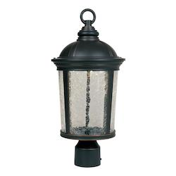 Designers Fountain Aged Bronze Patina Winston LED Outdoor Post Light