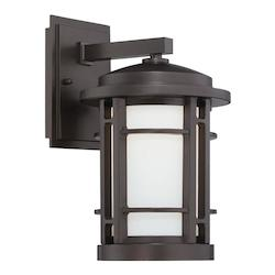 Designers Fountain Burnished Bronze Barrister 1 Light Outdoor LED Wall Sconce