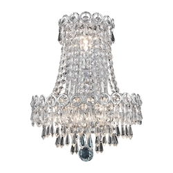 Elegant Lighting Royal Cut Clear Crystal Century 3-Light Crystal Wall Sconce