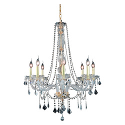 Elegant Lighting Royal Cut Clear Crystal Verona 8-Light