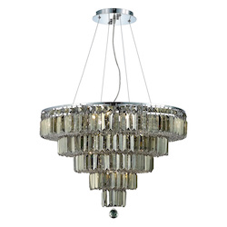 Elegant Lighting Royal Cut Smoky Golden Teak Crystal Maxim 14-Light