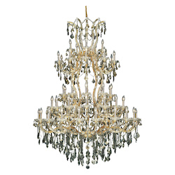 Elegant Lighting Royal Cut Smoky Golden Teak Crystal Maria Theresa 61-Light
