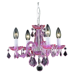 Elegant Lighting Pendant Light Pink