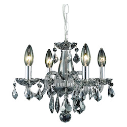 Elegant Lighting Pendant Light Silver Shade