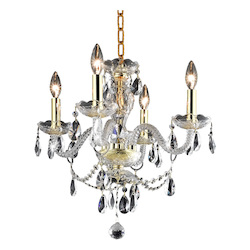 Elegant Lighting Royal Cut Clear Crystal Princeton 4-Light