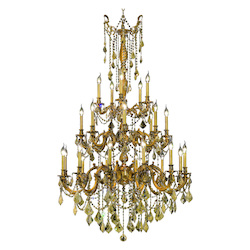 Elegant Lighting Royal Cut Clear Crystal Rosalia 25-Light