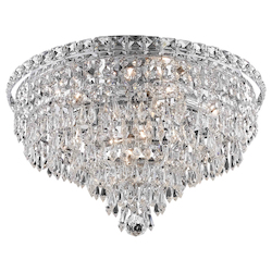 Elegant Lighting Royal Cut Clear Crystal Tranquil 8-Light