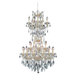 Elegant Lighting Royal Cut Clear Crystal Maria Theresa 25-Light