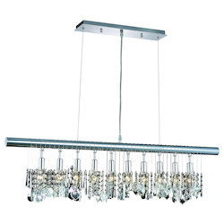 Elegant Lighting Royal Cut Clear Crystal Chorus Line 10-Light Crystal Pendant