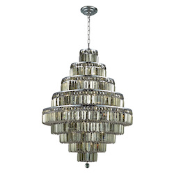 Elegant Lighting Royal Cut Smoky Golden Teak Crystal Maxim 20-Light