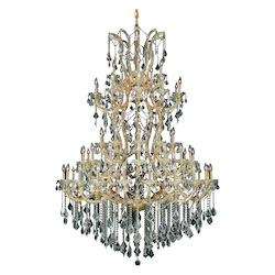 Elegant Lighting Royal Cut Clear Crystal Maria Theresa 61-Light