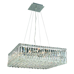 Elegant Lighting Swarovski Spectra Clear Crystal Maxim 12-Light Crystal Pendant