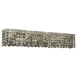 Elegant Lighting Swarovski Elements Smoky Golden Teak Crystal Maxim 8-Light Crystal Wall Sconce
