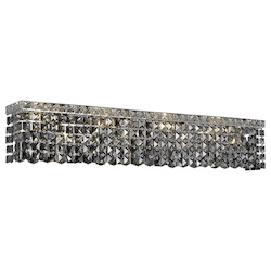Elegant Lighting Swarovski Elements Grey Silver Shade Crystal Maxim 8-Light Crystal Wall Sconce