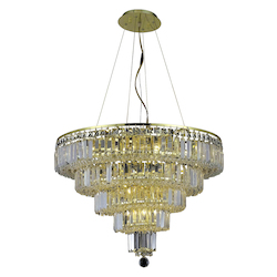Elegant Lighting Elegant Cut Clear Crystal Maxim 14-Light
