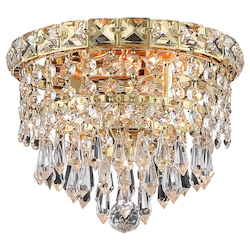 Elegant Lighting Elegant Cut Clear Crystal Tranquil 2-Light