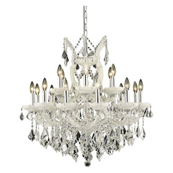 Elegant Lighting Dining Room Chandelier White