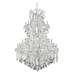 Elegant Lighting Elegant Cut Clear Crystal Maria Theresa 61-Light