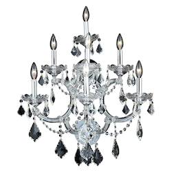Elegant Lighting Swarovski Elements Clear Crystal Maria Theresa 7-Light Crystal Wall Sconce