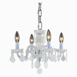 Elegant Lighting Royal Cut White Crystal Avalon 4-Light