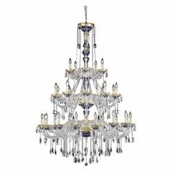 Elegant Lighting Elegant Cut Clear Crystal Alexandria 30-Light