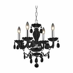 Elegant Royal Cut Clear Crystal Princeton 4-Light