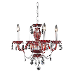 Elegant Lighting Dining Room Pendant Red