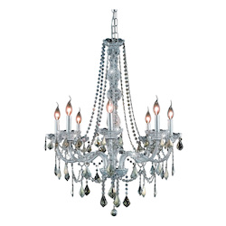 Elegant Lighting Swarovski Elements Smoky Golden Teak Crystal Verona 8-Light