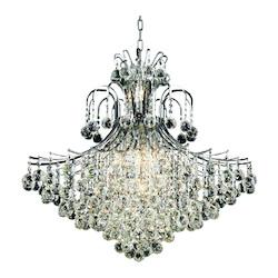Elegant Lighting Cut Clear Crystal Toureg 15 Light