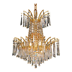 Elegant Lighting Elegant Cut Clear Crystal Victoria 4-Light