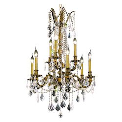 Elegant Lighting Swarovski Elements Clear Crystal Rosalia 9-Light