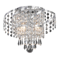 Elegant Lighting Elegant Cut Clear Crystal Belenus 2-Light Crystal Wall Sconce