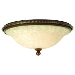 Craftmade Three Light Antique Scavo Glass Aged Bronze Bowl Flush Mount