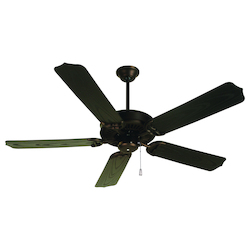 Craftmade Oiled Bronze Porch Fan 52in. 5 Blade Indoor Ceiling Fan - Blades Included