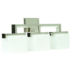 Craftmade Polished Nickel Kade 3 Light Bathroom Vanity Light - 25.75 Inches Wide